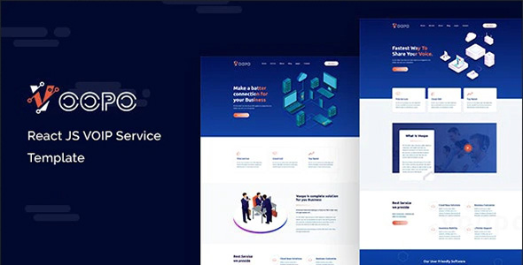 Voopo VOIP Service React Template