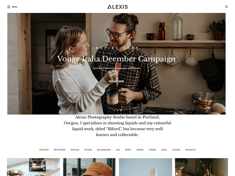 Alexis Photography Responsive Bootstrap 5 Template