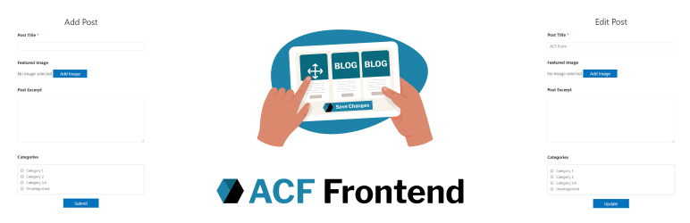 ACF Form Add Edit Posts Pages