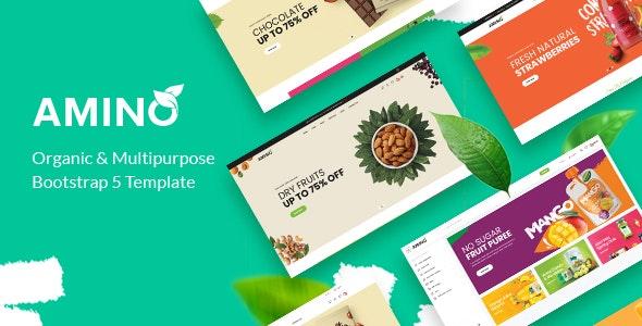 Amino Organic and Multipurpose Bootstrap 5 Template