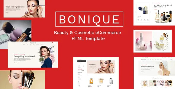 Bonique Beauty & Cosmetic eCommerce HTML Template