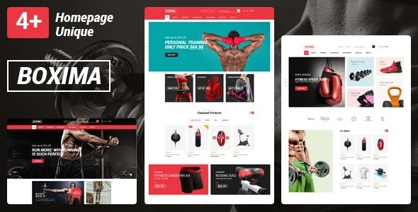 Boxima Gym Fitness Equipment Store HTML Template