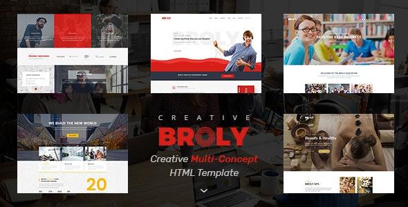 Broly Creative Multi Concept HTML Template