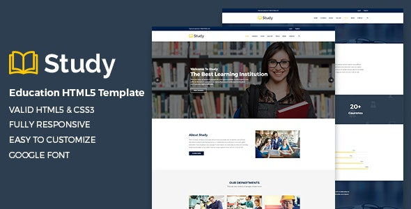 Education HTML Template Study