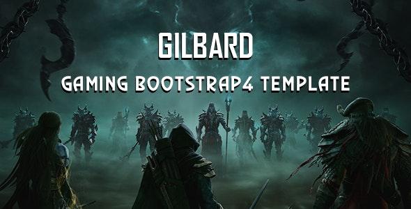 Gilbard Gaming Bootstrap 4 Template