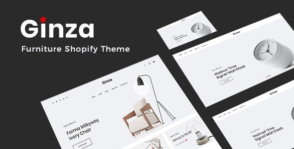 Ginza Minimal Furniture Shopify Theme