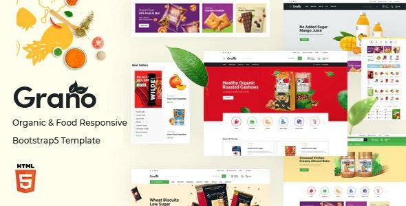 Grano Organic & Food Responsive Bootstrap 5 Template