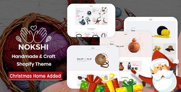 Handmade Craft Responsive Shopify Theme Nokshi