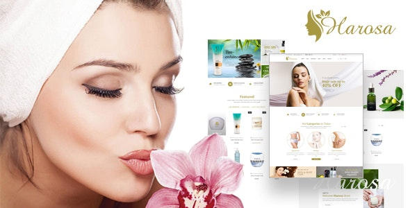 Harosa Cosmetics and Beauty eCommerce Bootstrap 4 Template