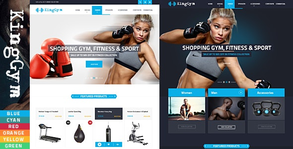 Kinggym GYM Accessories HTML Template