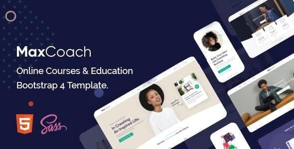 MaxCoach Education Bootstrap 4 Template