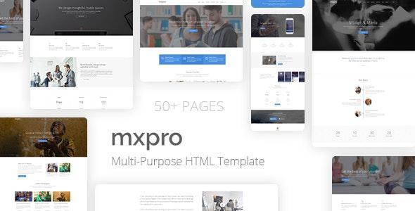 Mxpro MultiPurpose HTML5 Template