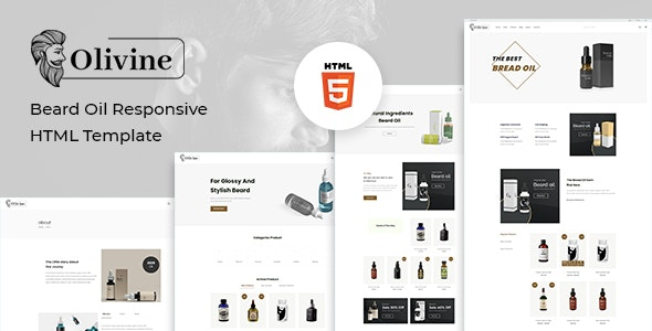 Olivine Beard Oil HTML Template
