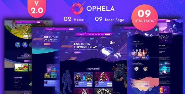Ophela Gaming Studio HTML Template