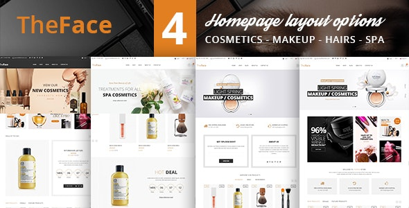 TheFace Beauty Cosmetics Store HTML Template