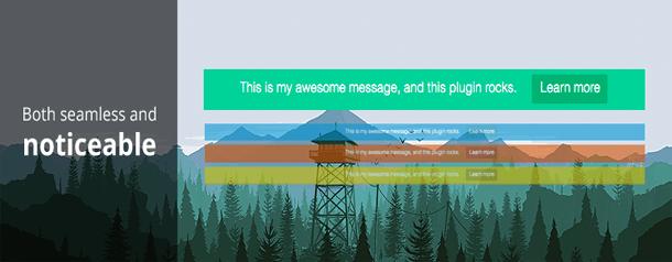 Top Bar WordPress Notification Bar plugin