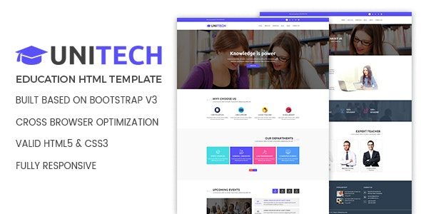 Unitech Education HTML Template