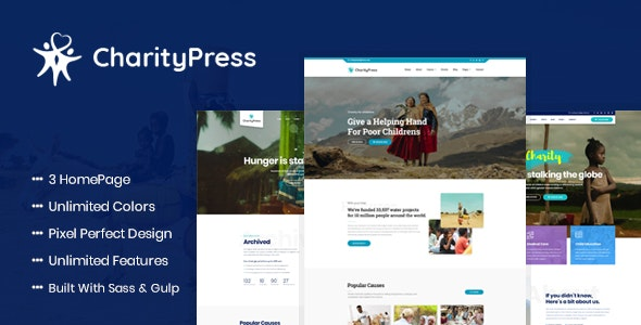 Charity Fundraising HTML Template CharityPress