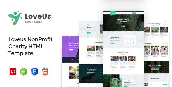 Charity NonProfit HTML Template Loveus