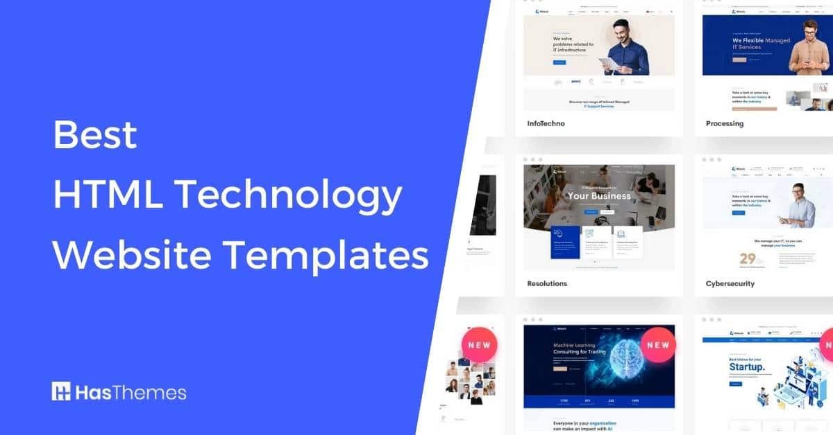 HTML Technology Website Templates