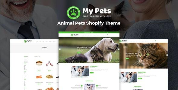 my pets pet sitter, pet shop, animal care shopify theme