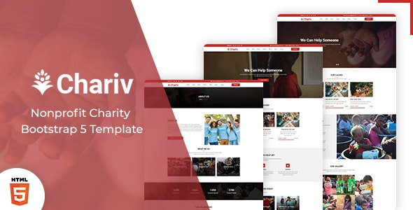 Nonprofit Charity Bootstrap 5 Template Chariv