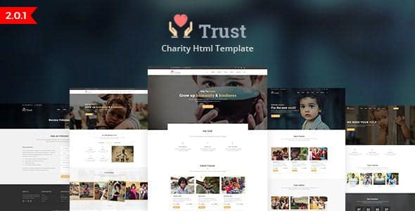Nonprofit Charity HTML Template Trust
