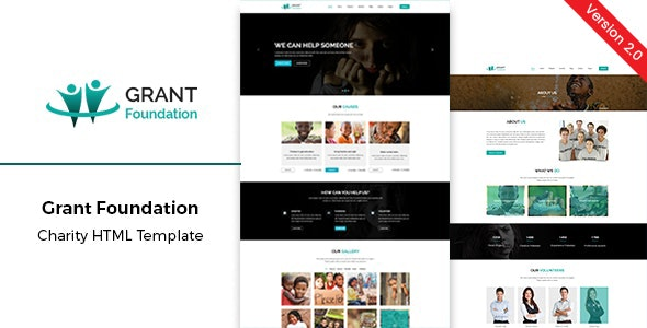 Nonprofit Charity HTML Template Grant Foundation