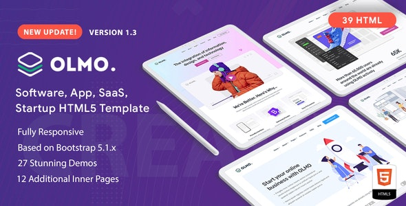 olmo software & saas html5 template