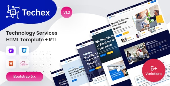 technology services html template techex