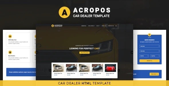 acropos car dealer html template