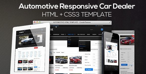 automotive cars dealer responsive html5css3