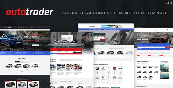 autotrader car dealer and automotive classified html template