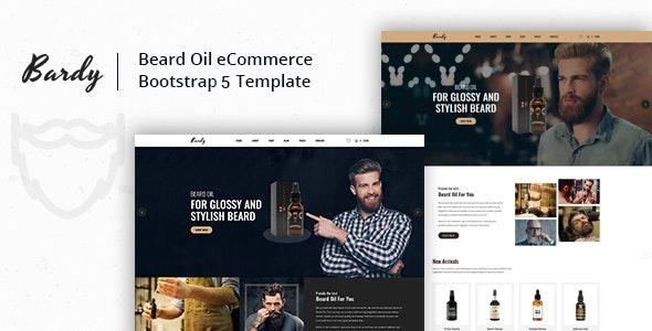 bardy beard oil ecommerce html template