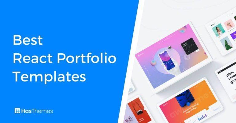 React Portfolio Templates