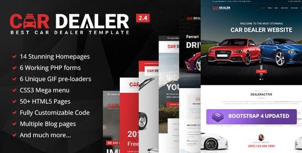 car dealer automotive responsive html5 hemplate