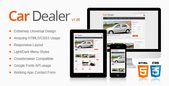 car dealer responsive html5css3 template