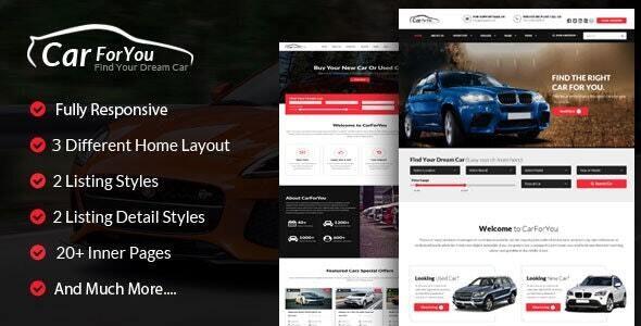 carforyou responsive car dealer html5 template