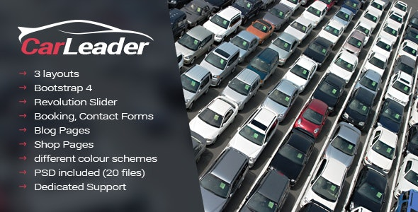 carleader car dealer html website template