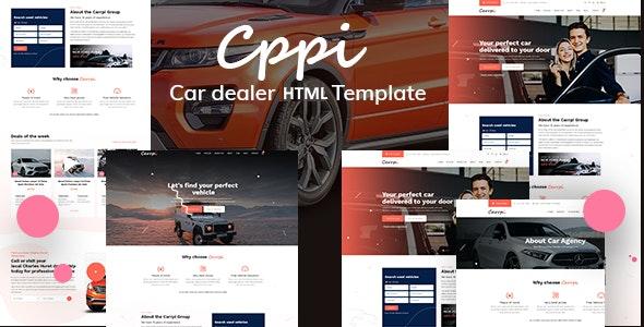 carrpi car dealer & car booking html template