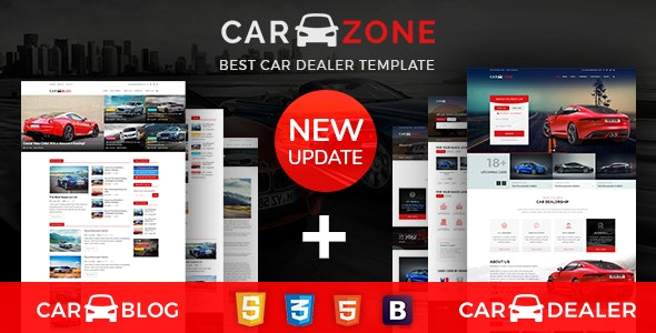 carzone a complete car dealer html template