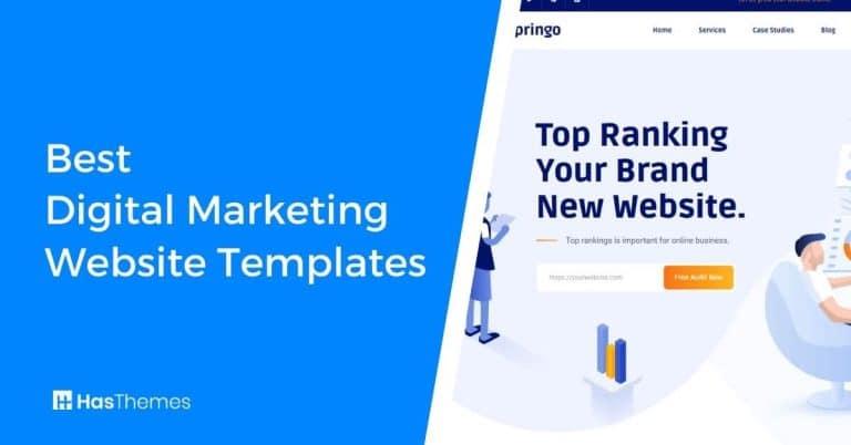 digital marketing website templates