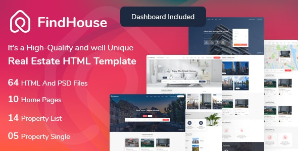 findhouse real estate html template