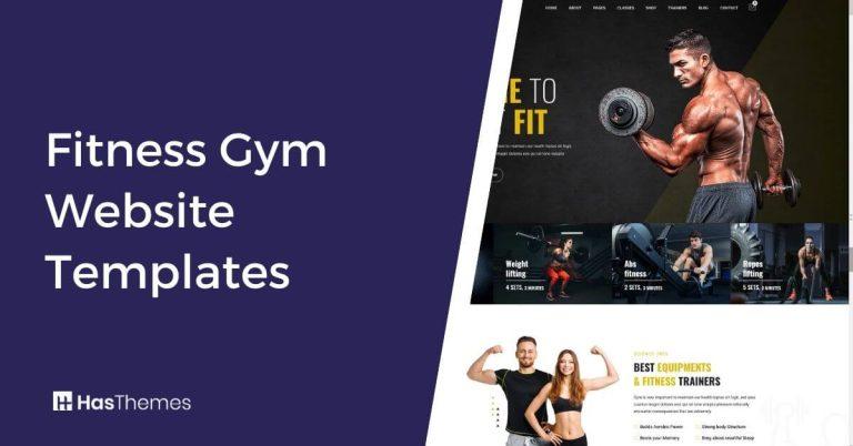 fitness gym website templates