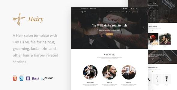 hairy barbershop & hair salon html template
