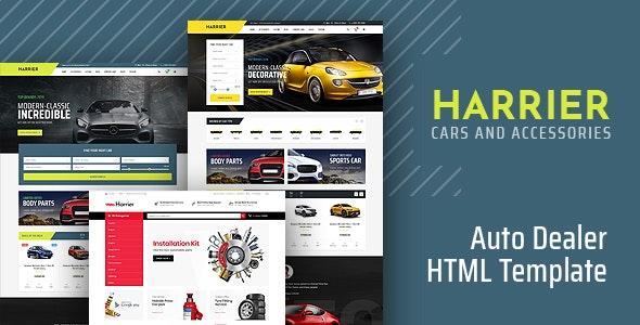 harrier car dealer html template