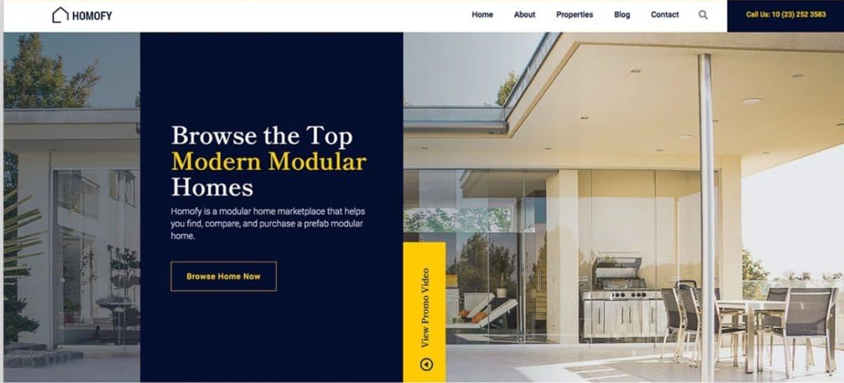 Homofy - Bootstrap 5 Real Estate Website Template