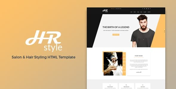 hr style salon & hair styling html template