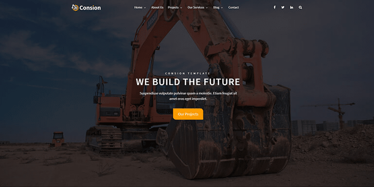 Consion - Construction Website Templates HTML5