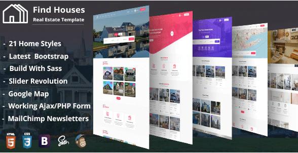 FindHouses - Real Estate Web Design Templates